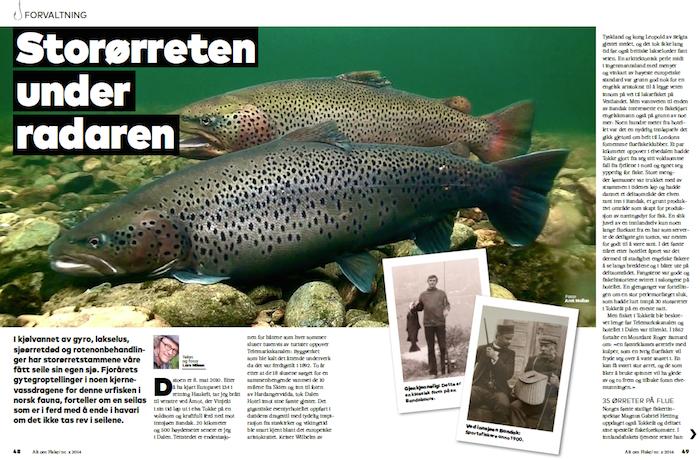 Artikkeloppslaget i Alt om Fiske nr 5 / 2016