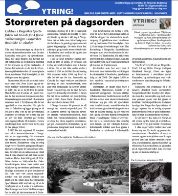 Fra siste utgave av Ringerike Budstikke