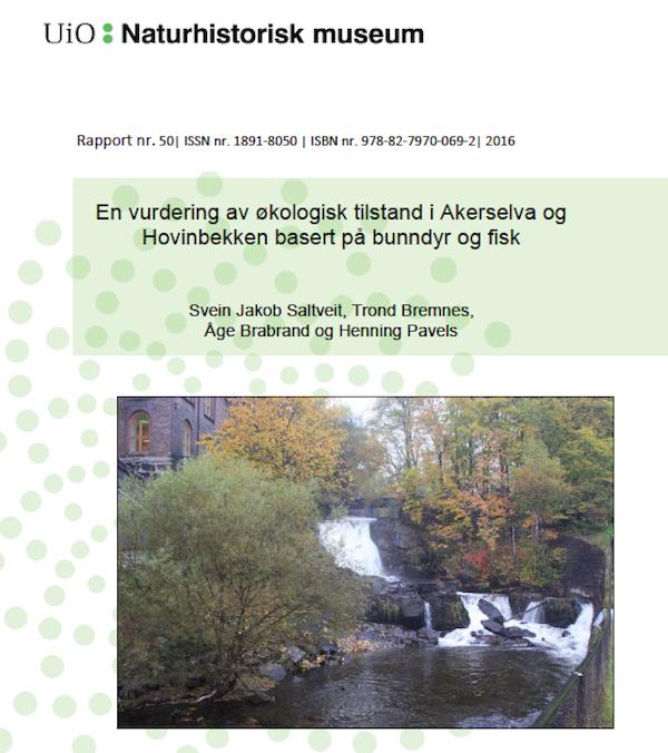 Forsiden til den ferskeste rapporten om Akerselva